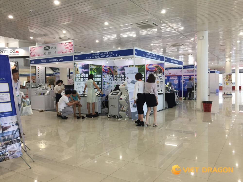 thiết kế gian hàng triển lãm công ty Nguyễn Gia