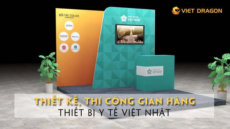 thi công gian hàng Thiết bị y tế Việt Nhật